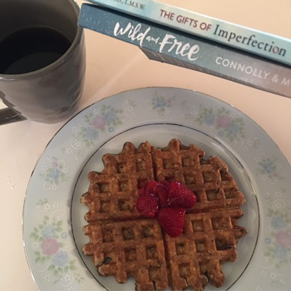 Chocolate Peanut Butter ProteinWaffles